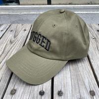 【残り僅か】RUGGED ''ARCH LOGO'' adjuster cap (Khaki×Black)