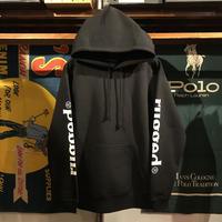 """RUGGED """"rugged®︎"""" sleeve logo sweat hoodie (Black/10.0oz)"""