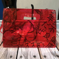 【残り僅か】AKIRA Art of Wall x nana-nana A4 Clear Bag (Red)