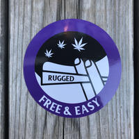 "RUGGED ""FREE & EASY"" sticker"