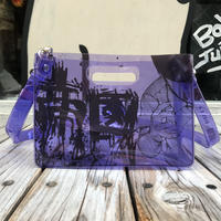 AKIRA Art of Wall x nana-nana A5 Clear Bag (Purple)