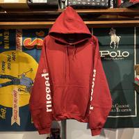 """【ラス1】RUGGED """"rugged®︎"""" sleeve logo hoodie (Burgundy)"""