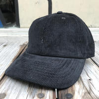 "【ラス1】RUGGED ""OLD R"" corduroy adjuster cap (Black)"