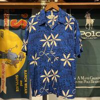 Maceye flower pattern aloha shirt (L)