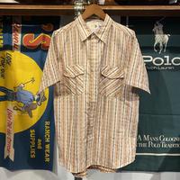etnies logo pattern stripe S/S shirt (M)