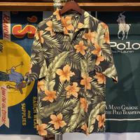 Caribbean silk aloha shirt (L)