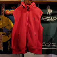 POLO RALPH LAUREN  fleese zip vest hoodie (2XL)