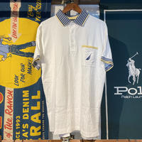 NAUTICA yatch flag polo shirt (L)