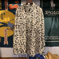 GOOUCH domino pattern silk shirt (L)