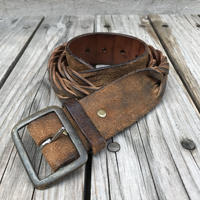 RRL leather mesh belt