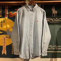 RALPH LAUREN small pony denim shirt (L)