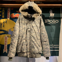 Military N-2B digital camo fur jacket (L)