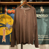Hanes henry neck beefy L/S tee (L)