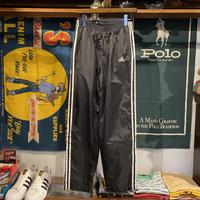 adidas side button 3 line truck nylon pants (M)
