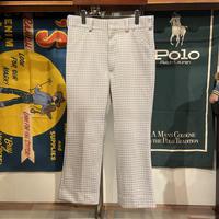 【web限定】Double knit check pants (34)