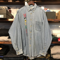"mickey&co. ""MICKEY"" denim shirt (L)"