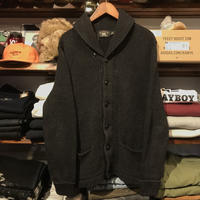 RRL shawl collar button knit (M)