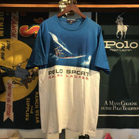 POLO SPORT wind surf print tee (L)