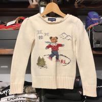 POLO RALPH LAUREN kids bear sweater (120)