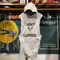 MADE IN USA ARMY LACROSSE no sleeve hoodie (L)