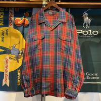 POLO RALPH LAUREN pure silk check shirt (2XL)