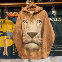 COMFORT COLORS lion face sweat hoodie (S)