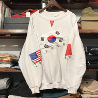 "【80's】""Flags"" pull over vintage sweat"