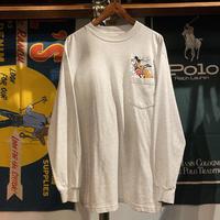 Disney store Mickey&Pluto  pocket L/S tee(L)