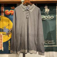 KNIGHTBRIDGE L/S check polo shirt (L)