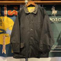 CAMPAGNA BOY leather collar cotton jacket