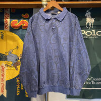 BRITIANIA half-button paisley sweat (L)
