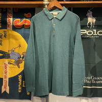 L.L.Bean plain L/S polo-shirt (L)