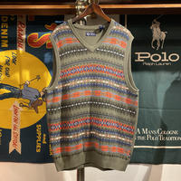 CHAPS native knit vest (L)