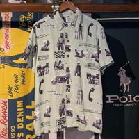 """POTMEETSPOP """"CHEECH&CHONG"""" print shirt (M)"""
