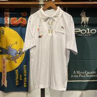 vintage zipper pocket polo shirt