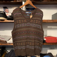 POLO RALPH LAUREN knit vest(M)