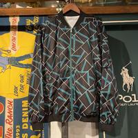 no brand crazy pattern bomber jacket
