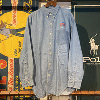 PLANET HOLLYWOOD logo pocket denim shirt (L)