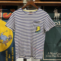 "【Web限定】unknown ""THANKS"" print Stripe Tee"