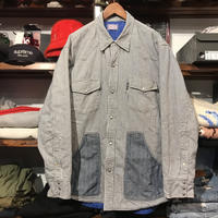 BLUE BLUE pencil stripe quilting jacket (XL)