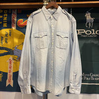POLO RALPH LAUREN epaulet denim shirt (XL)