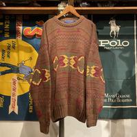 Wm. H. LEISHMAN native pattern sweater (L)
