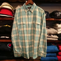 RRL cotton check shirt (L)