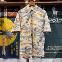 CANPIA summer print aloha shirt (M)