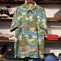 no brand zip-up aloha shirt
