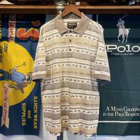 WOOLRICH fishing pattern border polo shirt (M)