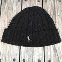 POLO RALPH LAUREN small pony knit cap (Black)