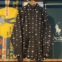 ECKO ink pattern cotton shirt (M)