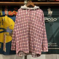 XLX check hoodie shirt (L)