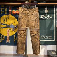 POLO RALPH LAUREN BLACK LABEL Cow leather bike pants